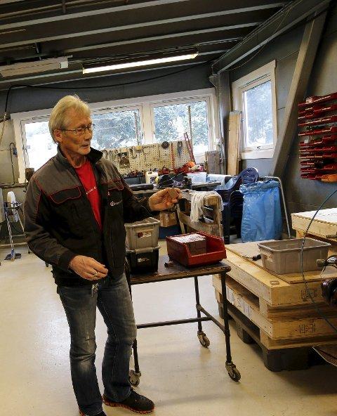 FÅR LÆREKANDIDAT: Arbeidsleder Ole-Johnny Sørsand fra Oddaprodukt får snart ansvar for en lærekandidat.