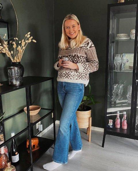 21 år gamle Maren Sjo Eide frå Halsnøy har innreia si aller første leilegheit. Det har ho gjort mellom anna ved hjelp av gjenbruk.