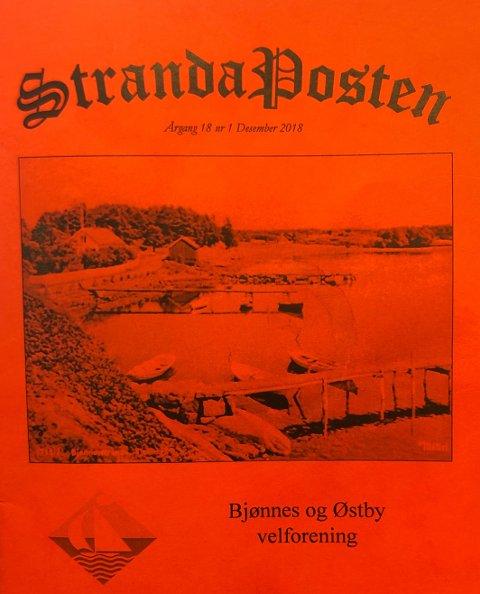 NY UTGAVE: Den 18. utgaven av Stranda-Posten er utgitt av Bjønnes og Østby Velforening.
