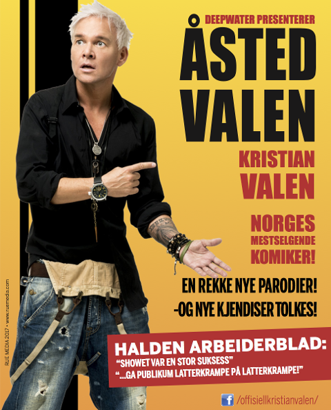 AVLYSER: Mange har sikret seg billett til show i Hønefoss med Kristian Valen fredag. Nå er det avlyst.