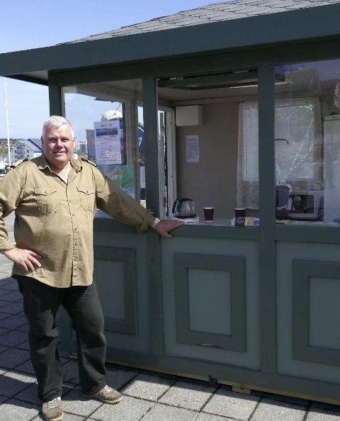 Stolt: Ole Tønder har realisert drømmen om egen kiosk på Piren.