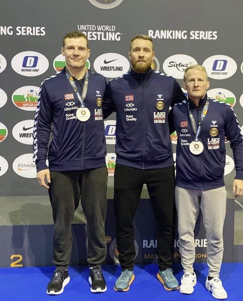 I Italia: Felix Baldauf (til venstre) og Stig-André Berge dro begge hjem fra Italia med andreplass. Det var landslagstrener Fritz Aanes godt fornøyd med.