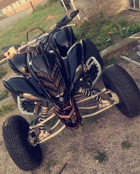 STJÅLET: Denne ATVen har i løpet av helgen blitt stjålet fra et parkeringsanlegg i et borettslag på Alvim.