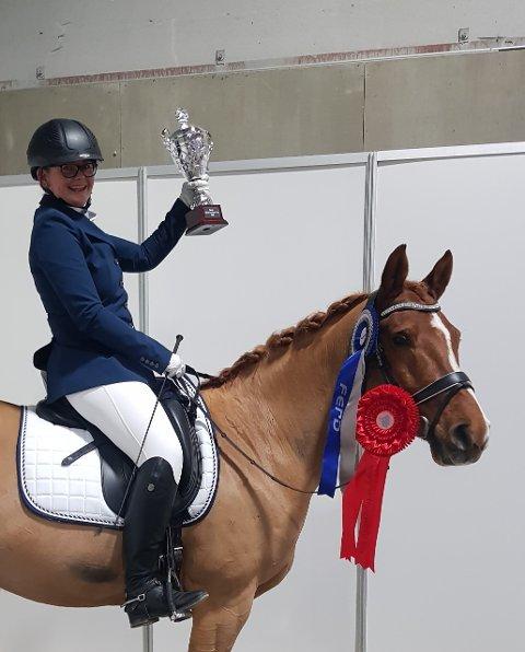 GLAD: Kjersti Aarsand tok to andreplasser med Norums Strips.