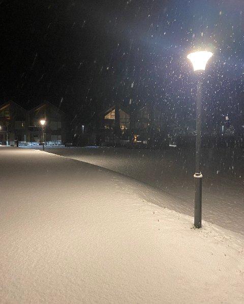 Beboerne på Ormåsen våknet tirsdag morgen opp til dette.