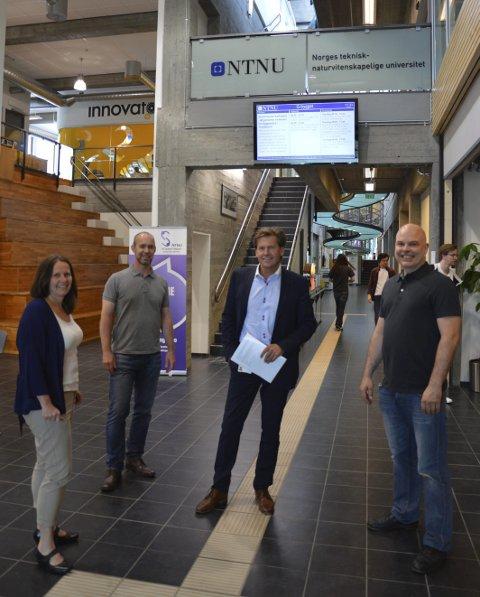 NTNU-prosjekt: F.v. Hege Taarud, Erik Hjelmås, Hjalmar Solbjør og Tom Edwin Manshaus.