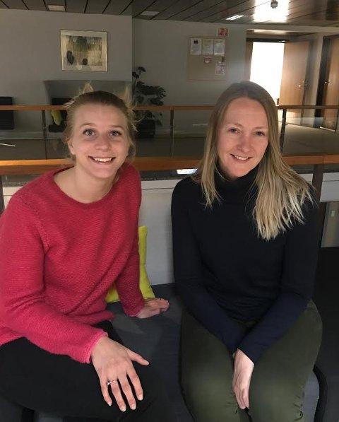 MANGFOLD: Ida Lindtveit (Krf) og Siv Kapsersen (H) ønsker en friskole innen idrett velkommen til Oppegård kommune.