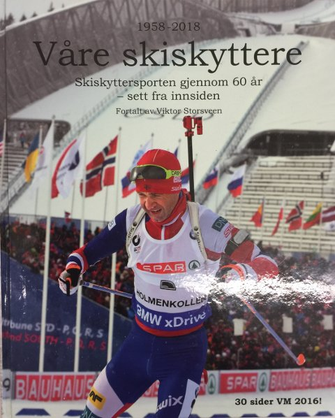 KONGEN AV SKISKYTING: Ole Einar Bjørndalen har naturlig nok fått plass på bokas forside.