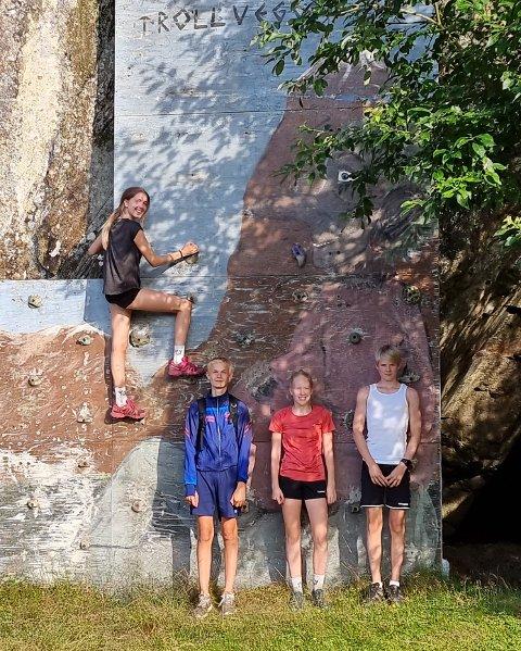 SPREKINGER: Sunniva Grunnvåg, Lucas Fjeld, Malin Velund Sirnes og Thomas Moi tok seg en skikkelig tur.