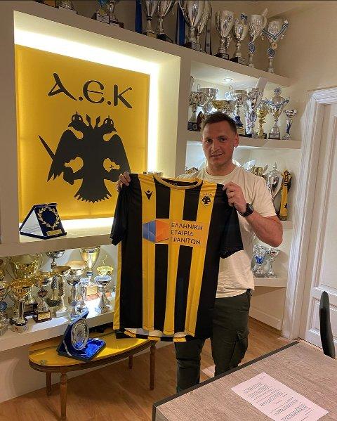 GRESK EVENTYR: Joakim A. Hykkerud er ferdig i DHK for denne gang og er klar for AEK Athen.