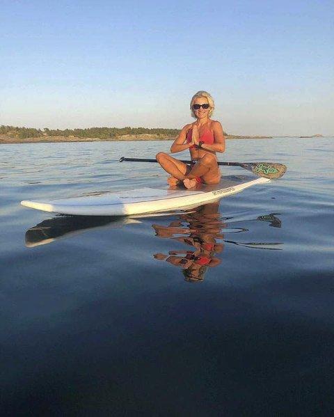 Stillhet: Helle Erlandsen har tatt bilde av en av en jente i «paradiset».
