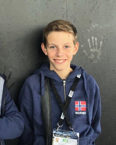 NY VERDENSMESTER: Anders Brogeland fra Flekkefjord vant VM-finalen i Bridge sammen med U16-landslaget.
