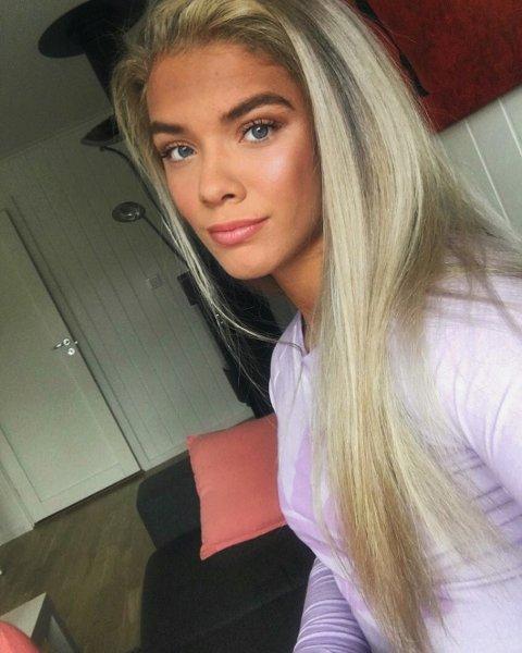 IKKE HELT FORNØYD: Isabell Adolfsen (19) fra Løken.