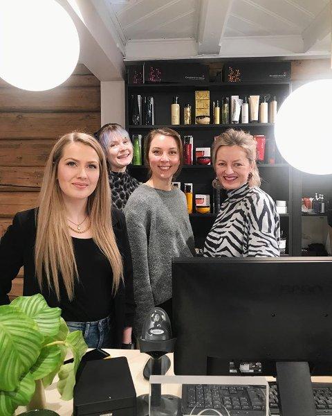 Nina Standahl (f.v.) Kristine Hansen, Heidi Kari Holten og Beathe Kroppan.