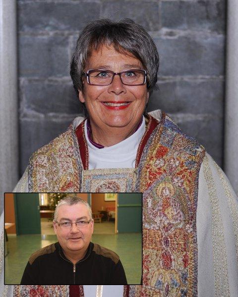 KAN IKKE TIE: Biskop Solveig Fiske sier kirken ikke kan tie i møte med urettferdighet. Frps Geir Fauchald mener hun spiller politisk mynt.