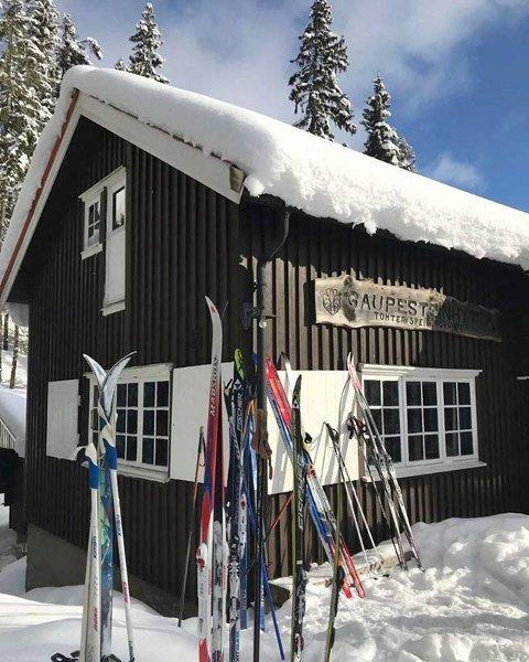POPULÆR MARKAHYTTE: Med mye bra skiføre denne vinteren har det også blitt stor utfart til Gaupesteinshytta og de andre hyttene i Sørmarka.