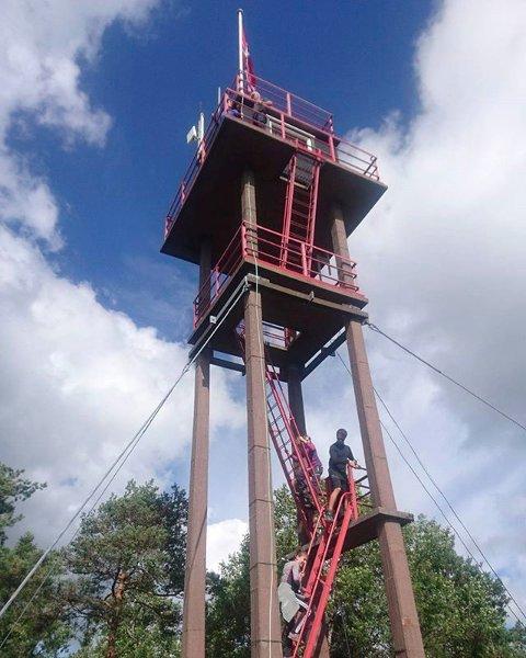 Planen er å bygge ny hytte på toppen av brannvakttårnet på Linnekleppen. Arkivfoto