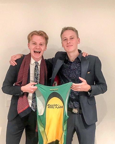 BYTTER KLUBB: Fredrik Sandvik (til høyre) skal løpe for Ullensaker/Kisa kommende sesong. Der blir han blant annet klubbkamerat med Sondre Opaker Øines (til venstre.