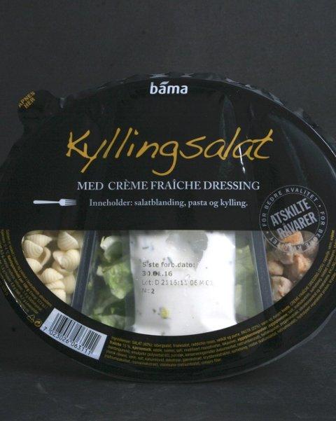 På topp: Kylling og pasta salaten fra Bama deler førsteplassen med Bamas Tacosalat.