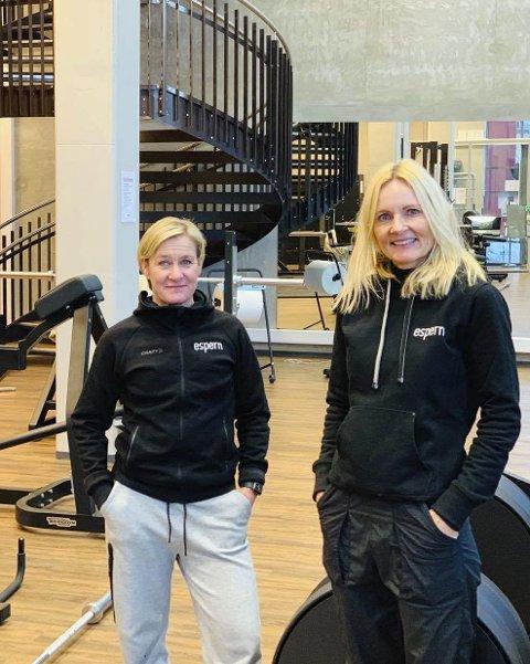 NYTT SENTER: Heidi Bjekestrand og An-Magritt Vangen åpnet mandag Espern på Lillehammer. På grunn av pandemien er de forberedt på en litt tregere start enn normalt.