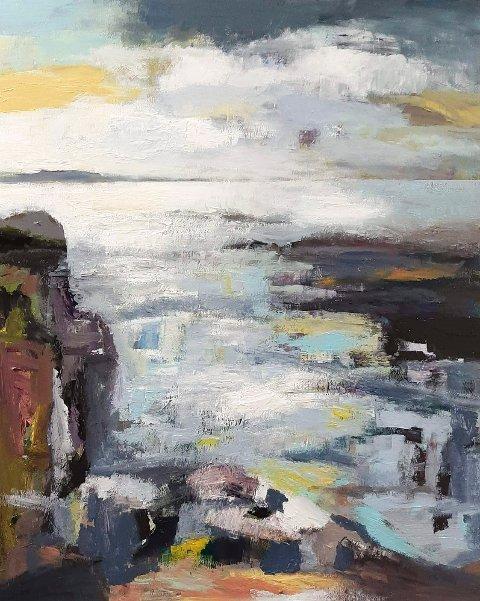 UTSTILLING: Sigurd Søreide stiller ut malerier i Print og Ramme i Leirvik.