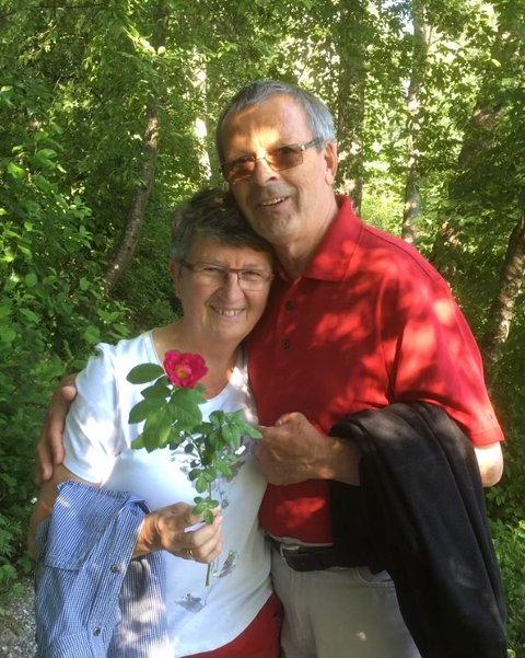 EKTEPAR: Kjærligheten blomstret fort mellom Elisabeth og Svein, og den mistet paret aldri.