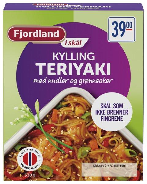 TILBAKEKALLES: Fjordland i skål Kylling Teriyaki.