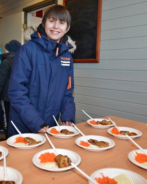 Eskil Andreas Både syntes torsketungene smakte godt.