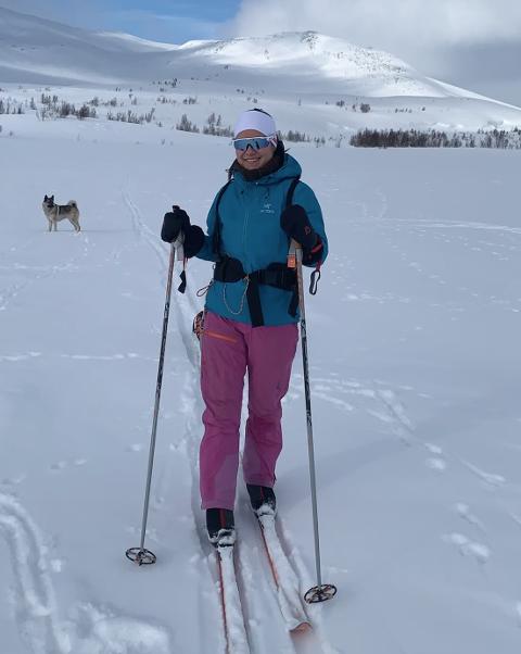 Favoritten: Lone Marie Molid Sandum har tradisjon for å stikke til fjells i påsken. Korgfjellet er favoritten.