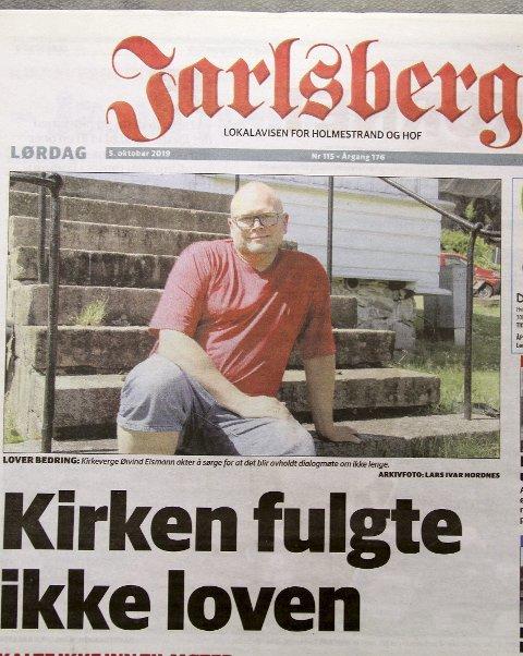 OPPSLAGET: Jarlsberg 5. oktober 2019. Faksimile