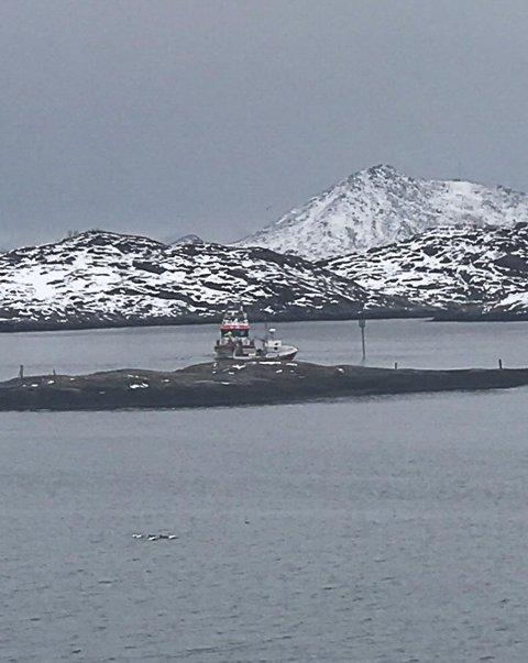 I AKSJON: Redningsskøya Sundt Flyer rykket tirsdag ut til Multebærholmen i Svolvær.