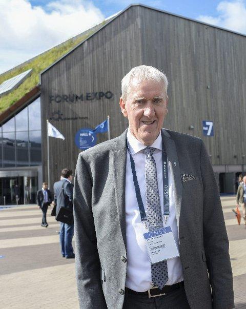 Fokus på Nyhamna: Aukra-ordfører Bernhard Riksfjord på plass på ONS.