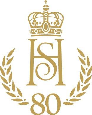 EGET BURSDAGSMONOGRAM: Kong Harald og dronning Sonja har fått et felles monogram i forbindelsen med markeringen av 80-årsdagene sine.