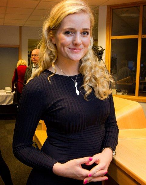 Emilie Enger Mehl (24) kunne smile etter plass på Stortinget.