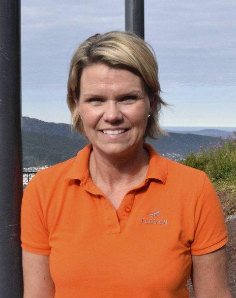 Administrerende direktør hos Fløibanen, Anita Nybø er spent på hvordan høsten vil bli.