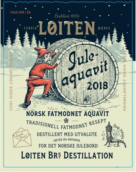 NY: For første gang i Løiten-akevittens historie er det produsert en egen juleakevitt.