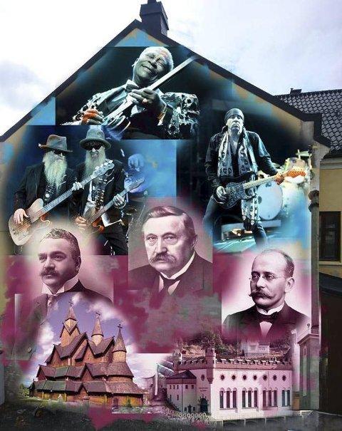 PROFILERING: Byens historie med blues og industri er utgangspunktet for veggmaleriet Dino Tomic er blitt bedt om å lage.