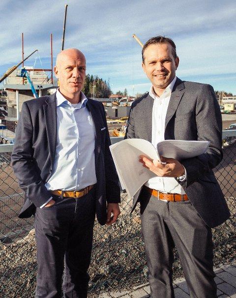 ENDRINGSPROSESS: Charles Løfwander (til venstre) er innleid hos Oslofjord-sjef Stian Fuglset for å revidere forretningsplanen til konferansesenteret.