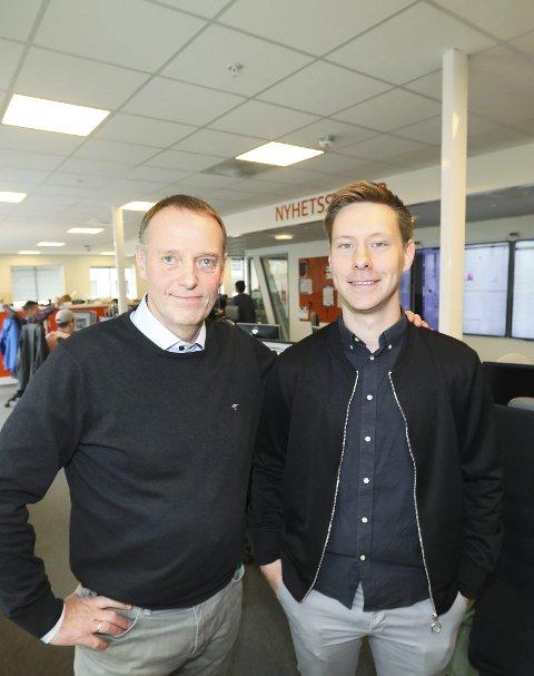 Korona: Sjefredaktør Jan-Eirik Hanssen og nyhetsredaktør Markus André Jensen i AN byr på +Alt