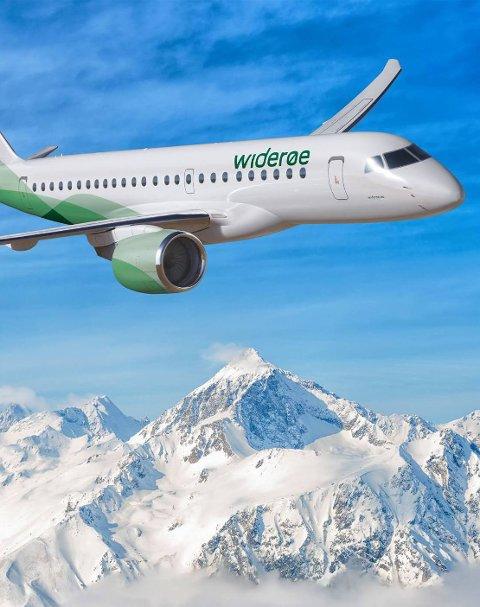 Nye Fly: Widerøe kjøper nye regionale jetfly.Foto: Widerøe