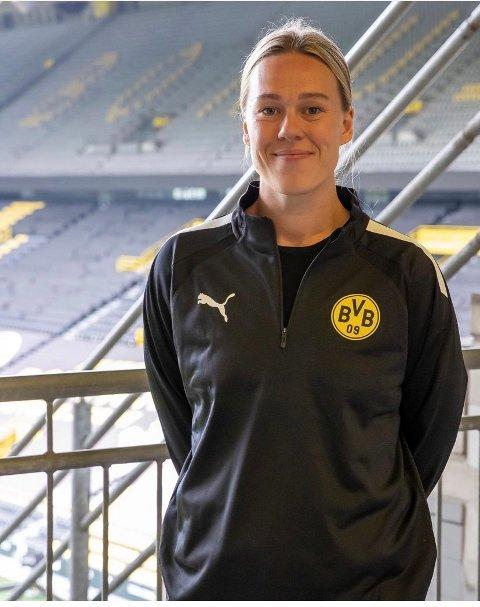 KLAR FOR TYSKLAND: Frida Nåmo Rønning bytter ut Oppsals blå drakter med Dortmunds gul-svarte den kommende sesongen.