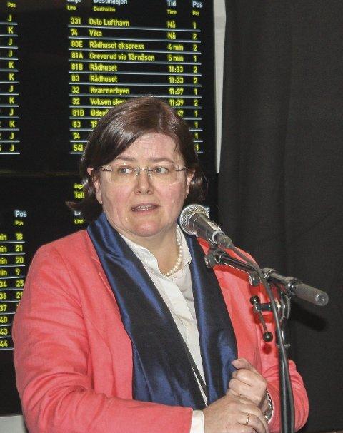 I møter: Anette Solli (H) og de øvrige medlemmene i forhandlingsutvalget for Oslopakke 3 møtes i morgen.
