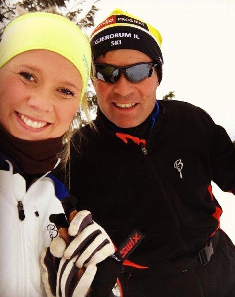 GLAD I IDRETT: Ida og hennes far Per Egil Moseng er begge idrettsentusiaster. De har alltid tilbrakt mye tid sammen.