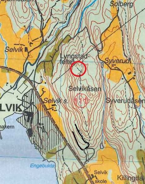 Avmerket: Ringen på kartet viser hvor posten ligger.