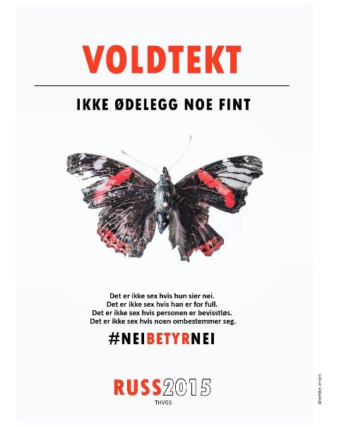 """KLAR TALE:  """"Det er ikke sex hvis personen er bevisstløs"""", står det blant annet på kampanjeforslaget Albertine Jensen (19) har laget."""