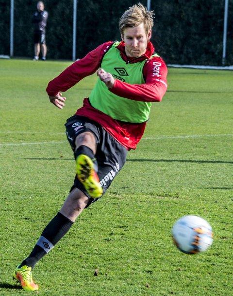 Trente for fullt: Ulrik Flo var mandag tilbake i full trening igjen etter å ha trent alternativt i stort hele vinter.
