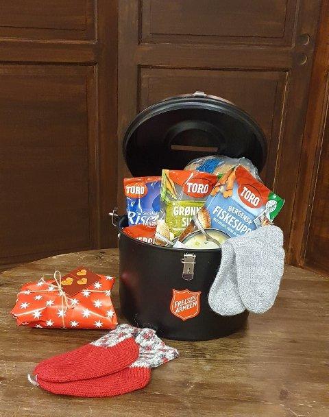 """Takk for din gave! Pengene i julegryta blir til mat, klær, omsorg og """"nærhet"""" til de som trenger det."""