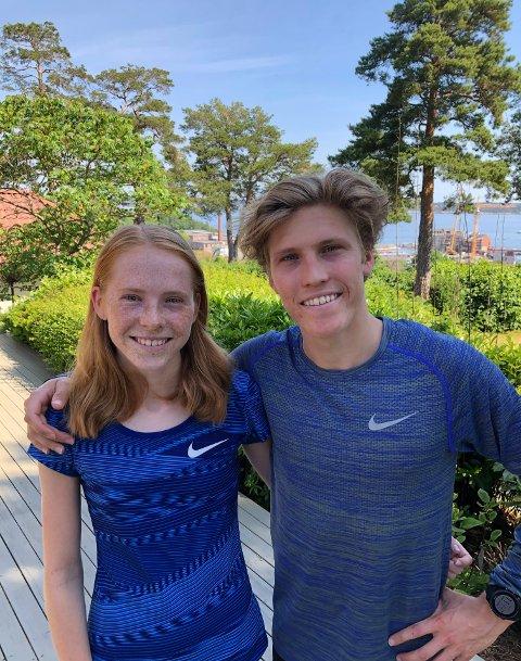 FOR NORGE: Simen og Ina Halle Haugen skal representere Norge på seniornivå under et europacupstevne i Romania denne helgen.