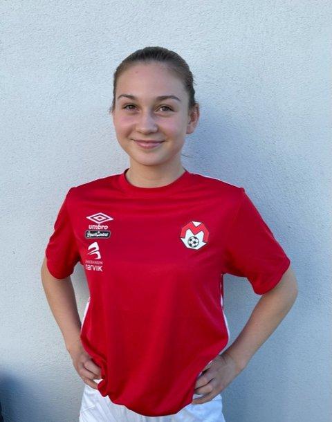 Thyra Holm Bratsberg var eneste fra Hålogaland fotballkrets som passerte nåløyet og kom med blant landets 50 fremste jentetalenter i 14-årsklassen.