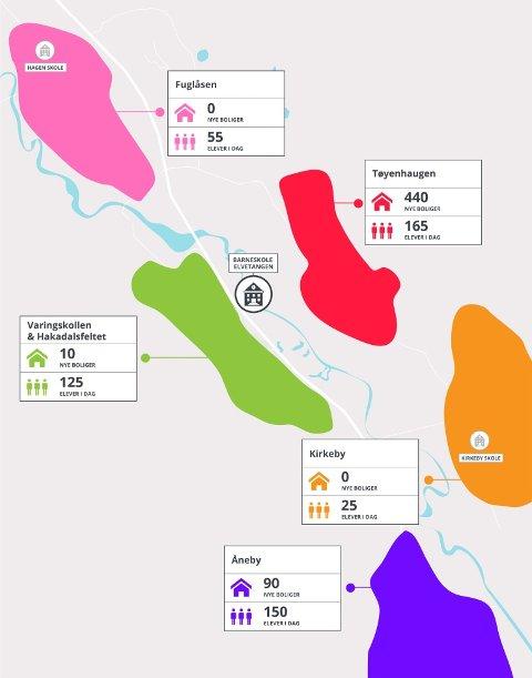 BEFOLKNINGSGRUNNLAG: – Vi har laget et kart som viser befolkningsgrunnlaget rundt Elvetangen. Dette gir en god illustrasjon på hvor Elvetangen ligger i forhold til de eksisterende og vedtatte boområder, skriver ordføreren og varaordføreren i dette svaret til Per Bjørn Lotherington.